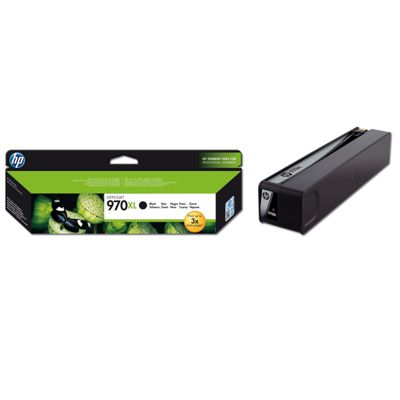 HP 970XL Black Ink Cartridge (Yield 9200 Pages) for OfficeJet Pro X Series Printers