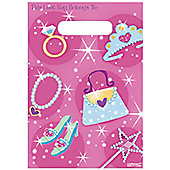 Princess Party Plastic Party Bags - 8 pack