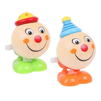 Bigjigs Toys Jumping Clown Heads (Pack of 2 - Green Feet and Orange Feet)