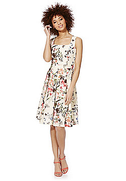 F&F Floral Print Sleeveless Prom Dress - Multi