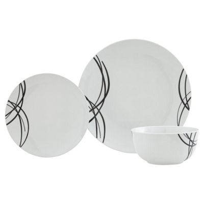 Cirrus Black 12 Piece Dinner Set  sc 1 st  Tesco & Buy Cirrus Black 12 Piece Dinner Set from our Dinner Sets range - Tesco