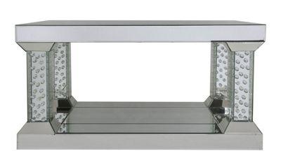 Mirrored Pillar Coffee Table