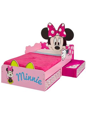 Buy Minnie Mouse Toddler Bed With Storage Plus Foam Mattress From
