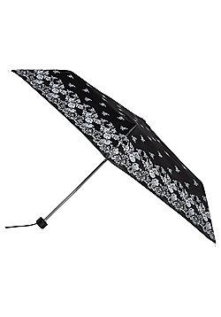 Totes Floral Lace Print Umbrella - Black