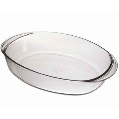 Duralex Oven Chef Oval Roasting Dish - Clear - 360x250mm