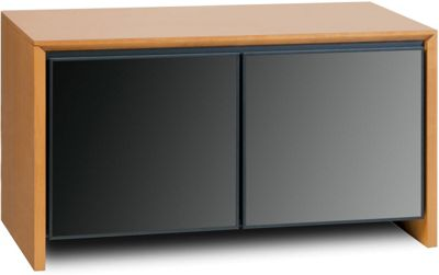 Salamander Cherry Twin TV Cabinet with Smoked Glass
