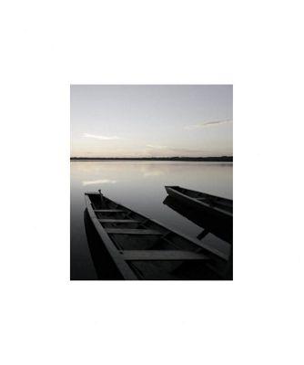Pharmore Ltd 2 Boats on Lake Wall Art - 60cm x 60cm
