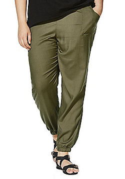 Simply Be Cuffed Trousers - Khaki