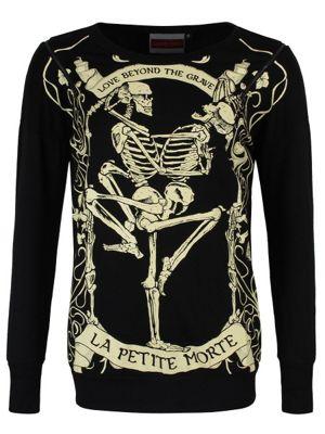 Jawbreaker Love Beyond the Grave Women's Sweater, Black.