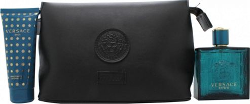 Versace Eros Gift Set 100ml EDT + 100ml Shower Gel + Pouch