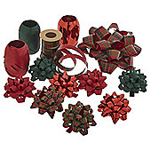 Christmas Ribbon and Bow Accessory Pack, Red and Green