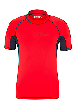 Mountain Warehouse Mens UV Rash Vest - Red