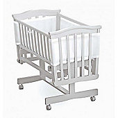 Breathable Baby Mesh Crib Liner - White