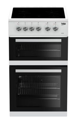 Beko Double Oven Electric Cooker, KDVC563AW - White