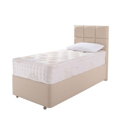 Relyon Natural Lambswool Padded Top 2 Drawer Single Divan Bed