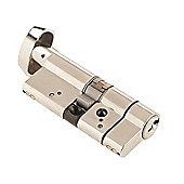 Yale Locks YALASP3535NT 70 mm Anti-Snap Platinum Thumbturn Cylinder