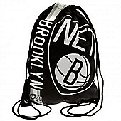 NBA Basketball Brooklyn Nets Cropped Logo Drawstring Backpack 49x34x1.5cm