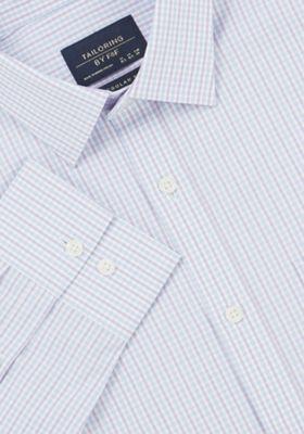 F&F Checked Regular Fit Long Sleeve Shirt Purple 17