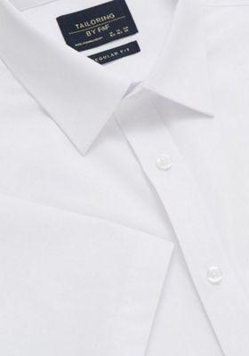 F&F Easy Care Short Sleeve Regular Fit Shirt 18 White