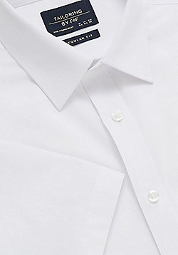 F&F Easy Care Short Sleeve Regular Fit Shirt - White