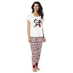 6aeb0fe2c9 Disney Mickey Mouse Christmas Pyjamas 8-10 Cream