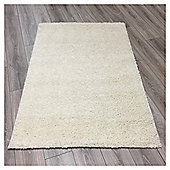 Ultimate Retro Shaggy Rug Cream - 100x150cm