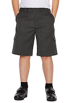 F&F School 2 Pack of Boys Plus Fit Combat Shorts - Grey