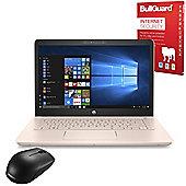 "Certified Refurbished HP 14-bk069na 14"" Laptop Intel Pentium 4415U 4GB 1TB Windows 10 with Internet Security & Mouse - 2FN66EA#ABU"