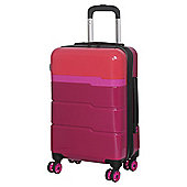 IT Luggage TwoTone 8 wheel Hard Shell Persian Red and Grenadine Cabin Case