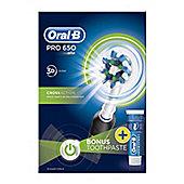 Oral-B Power PRO CrossAction Pro 650 Black Toothbrush