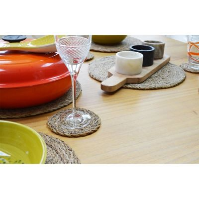 Argon Tableware Water Hyacinth Weave Placemats - 3 Designs Available - Set Of 6 - Typha
