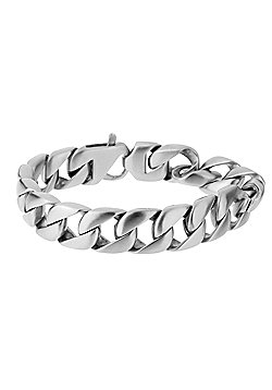 Urban Male 'Munich' Matte Stainless Steel Modern Curb Link Bracelet for Men