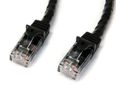 StarTech 15m Black Gigabit Snagless RJ45 UTP Cat6 Patch Cable - 15 m