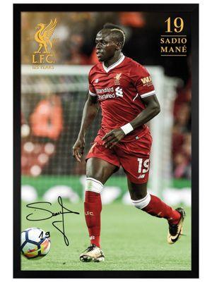 Liverpool FC Black Wooden Framed Mane 17-18 Poster 61x91.5cm