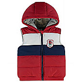England RFU Rugby Baby Panel Hooded Gilet - Multi