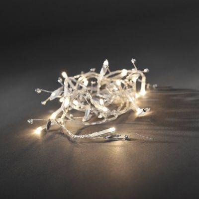 Konstsmide Warm White LED Battery Operated Decoration Light Set with Decorations