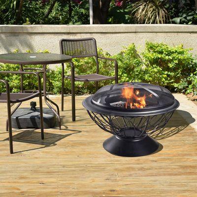 Peaktop Outdoor Garden Patio Heater Steel Fire Pit Firepit CU295