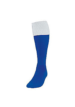 Precision Training Turnover Football Socks - Royal blue & White