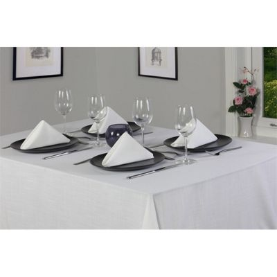 Hamilton McBride Essentials Oblong Cream Tablecloth - 178x229cm