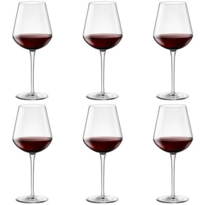 Bormioli Rocco Inalto Uno Extra Large Wine Glass - 640ml - Pack of 6 Drinking Glasses