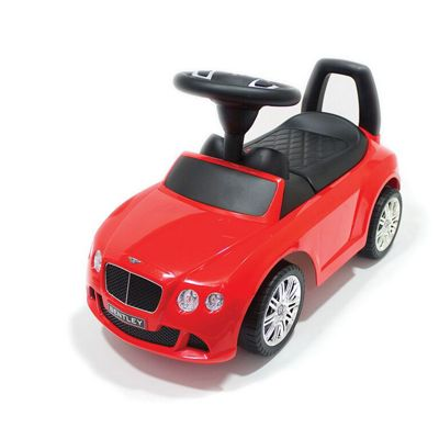 Bentley Licensed Push Along Ride On Car Red