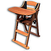 Safetots Putaway Folding Wooden Highchair Darkwood