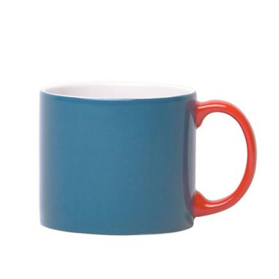 Jansen Mix and Match Ceramic Espresso Cup in Blue with Red Handle JC1129