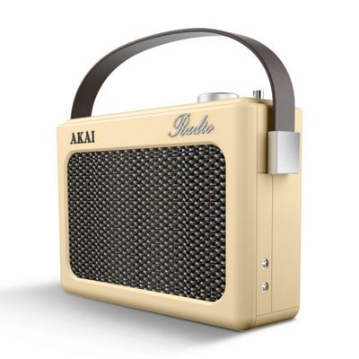 Akai DAB Retro Radio Cream