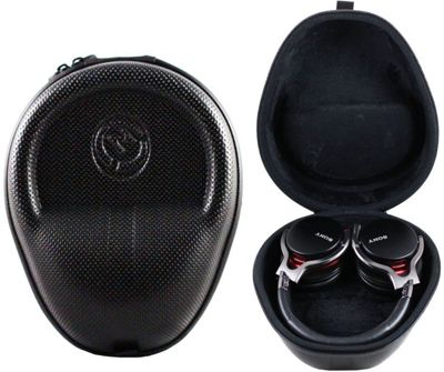 Navitech Black Wireless Rugged Head Phone Case for Sony Wireless Headphones