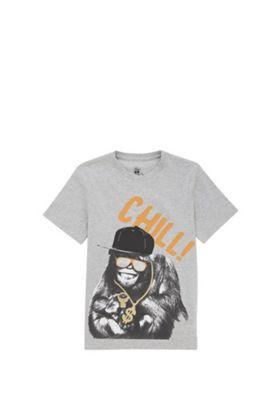 F&F Chimp Say Cheese Slogan T-Shirt Orange 5-6 years