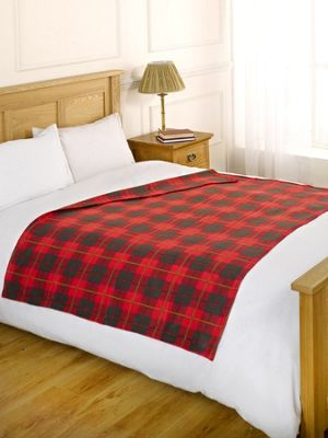 Dreamscene Warm Check RED Soft Sofa Bed Travel Fleece Throw Blanket 120 x 150cm Xmas Gift