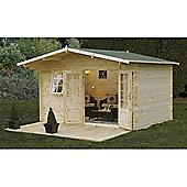 Forest Garden Buxton Log Cabin 4.0m x 3.0m Installed
