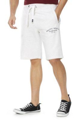 F&F Collegiate Marl Sweat Shorts Light Grey L