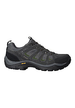 Mountain Warehouse Mens Waterproof Shoes with Suede & Mesh Upper Highly Durable - Grey